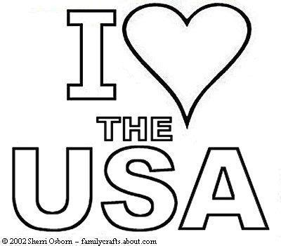 printable coloring page usa i love the usa coloring book page free print and color