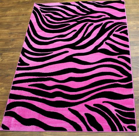 pink and black zebra rug design by montgomery community media