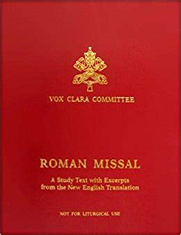 excerpts from the missal books missal a study text with excerpts from the new
