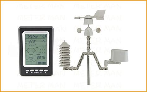 home use professional weather station with solar power