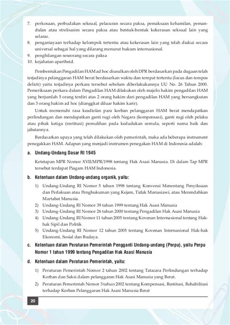 Buku Hak Restitusi Buku Mata Pelajaran Pancasila Dan Kewarganegaraan Siswa