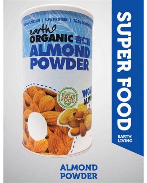 Organic Almond Powder by Earth Living Organic Almond Powder 500gr