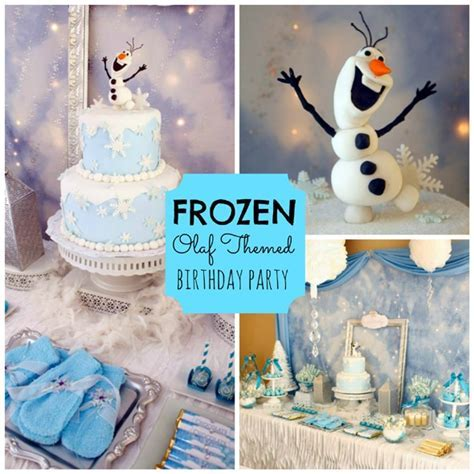 Frozen Olaf Themed Birthday Party