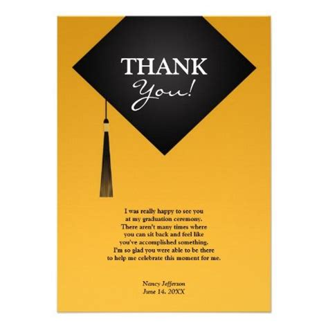 high school graduation thank you card templates 8 best graduation ideas images on graduation