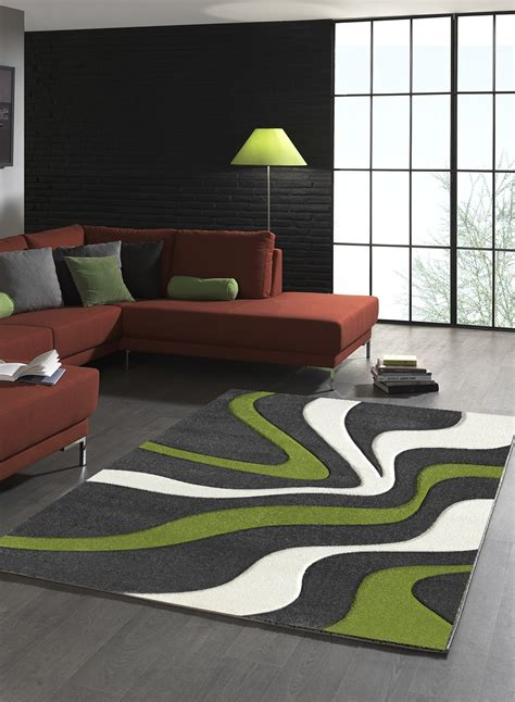 tapis salon tapis salon en polypropylene todila vert