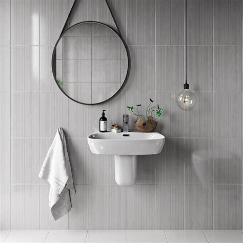 bathroom materials british ceramic tile linear grey gloss tile 248mm x 398mm