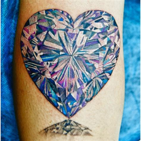 diamond heart tattoo tattoos ahhs