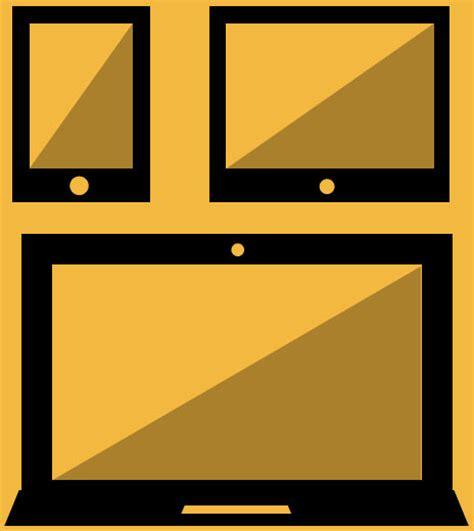 design icon orange orange devices vector icon design free vector in adobe
