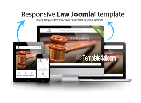 one page responsive joomla template