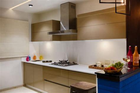 beige cabinets  modern interior  parallel kitchen