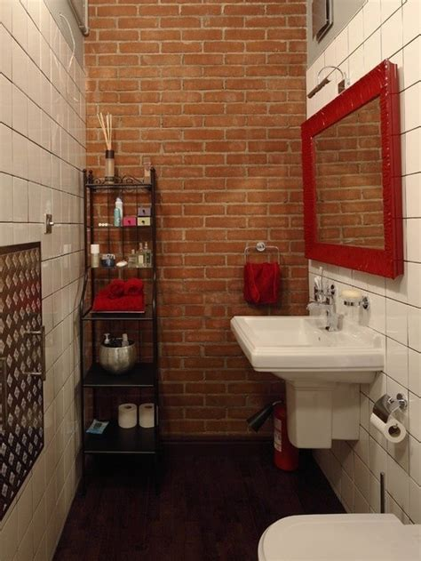 half bathroom designs brick tiles home interiors interior design what bathroom tile goes well with exposed