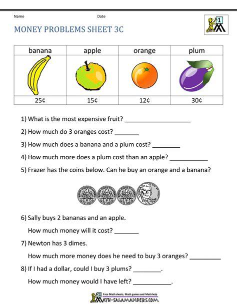 Free Math Worksheets For Grade 2 Money