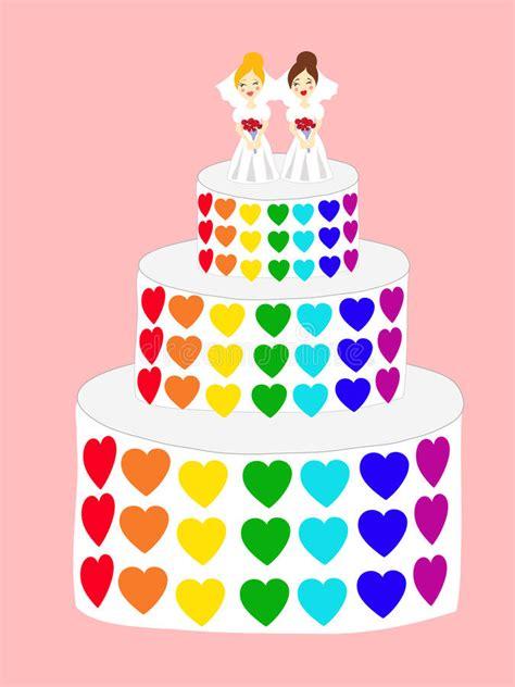 Hochzeitstorte Lesben by Hochzeitstorte F 252 R Lesben Vektor Abbildung Illustration