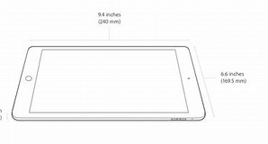 Image result for iPad Air 2 dimensions