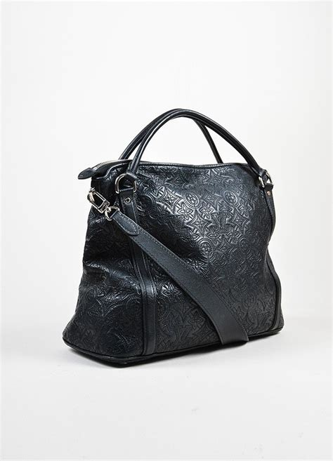 black louis vuitton antheia leather ixia pm tote bag