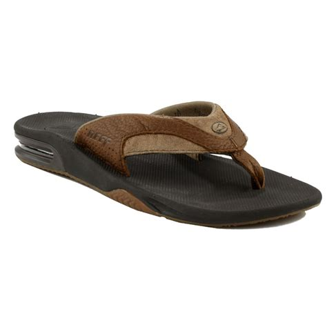 reef sandals outlet store reef leather fanning sandals evo outlet