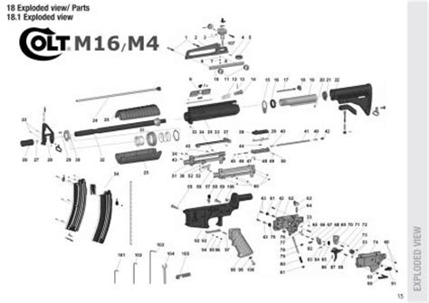 m4 parts diagram image gallery m4 rifle parts diagram