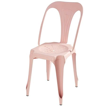Pink Metal Chair industrial pastel pink metal chair multipl s maisons du