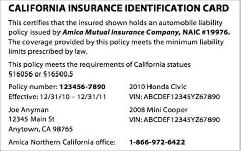 Proof Of Insurance Card Template » ibrizz.com