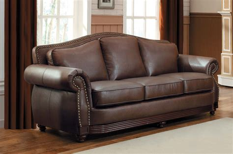 brown leather sofa homelegance midwood bonded leather sofa collection