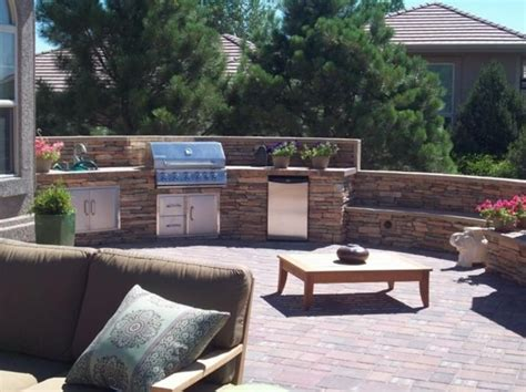 backyard built in bbq ideas outdoor kitchen colorado springs co photo gallery