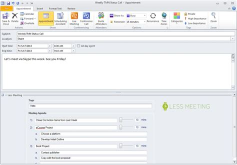 outlook meeting invite template how to hold better meetings with less meeting time
