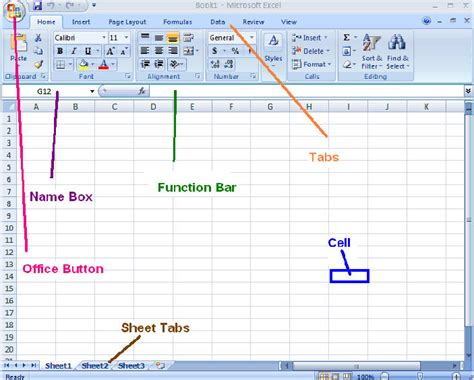 tutorial to excel 2007 microsoft excel 2007 functions and parts microsoft