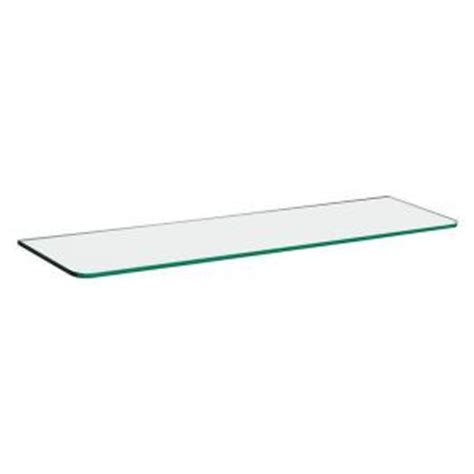 dolle 31 1 2 in l x 10 in d glass shelf in clear 30142