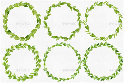 Decorative Item For Home 12 Watercolor Leaves Wreaths By Helga Wigandt Graphicriver