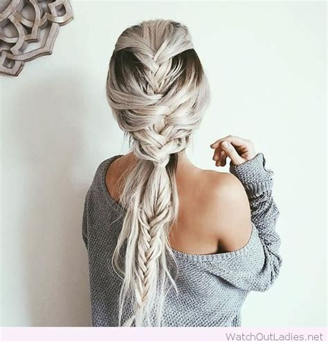 White Hairstyles by Braids And White Hair Color Out