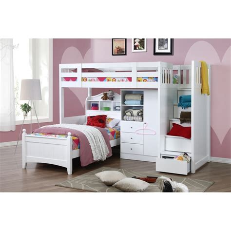 Bunk Beds With Wardrobe by Design Bunk Bed K Single W Stair Bed Single Wardrobe 104034