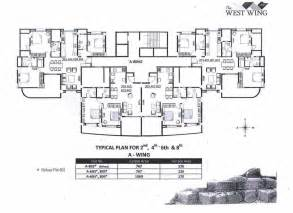 west wing floor plan the west wing in baner pune buy sale apartment