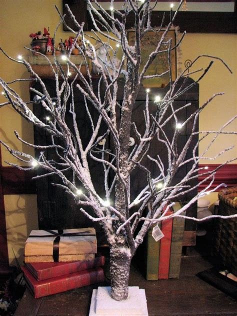 twig tree home decorating lighted snowy twig tree beautiful winter home decor 3ft
