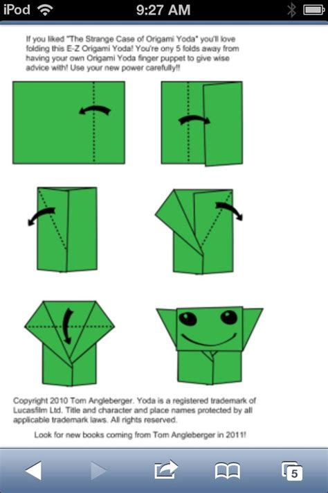 Easy Origami Yoda - how to fold an origami yoda origami