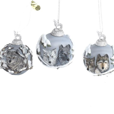 eyes of the wild heirloom glass ornament collection