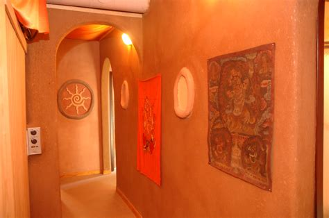 clay plaster walls living earth structures