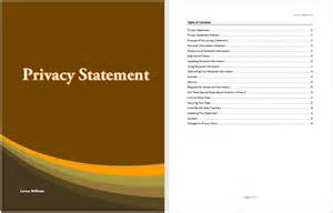 privacy template privacy statement template microsoft word templates