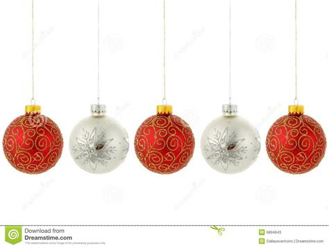 christmas tree ornaments hanging stock image image 6894643