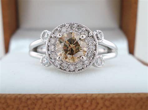 Handmade Engagement Rings Etsy - unique engagement rings halo setting handmade weddings on