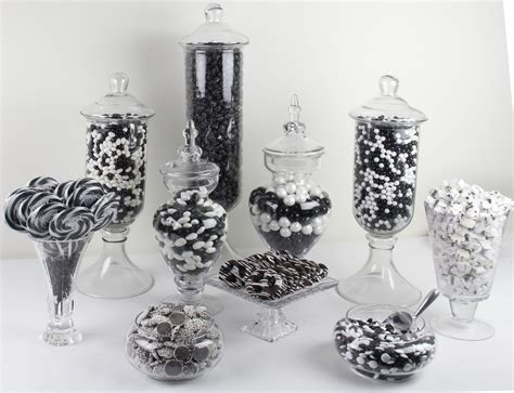 Black And White Candy Pictures To Pin On Pinterest Pinsdaddy Black And White Buffet