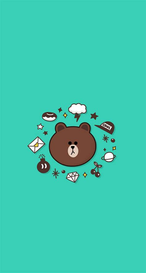 Line Iphone 34 best line friends images on grizzly bears card book and cell phone wallpapers