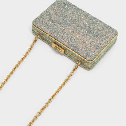 1328 Charles Keith Clutch charles keith グリッタークラッチバッグ glitter clutch bag dusty