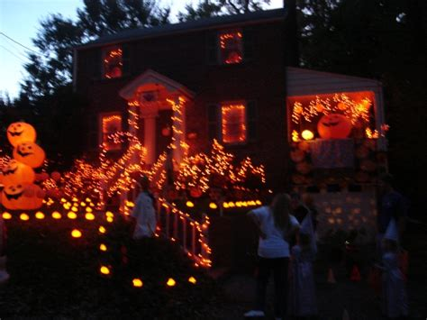 decorated homes for halloween halloween houses neighborhood envy