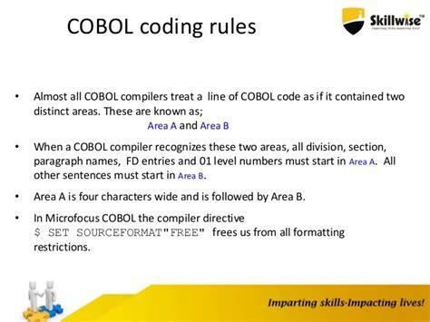 fd section in cobol skillwise cobol programming basics