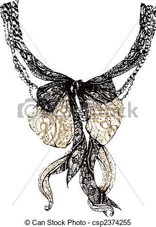 clipart vector of decorative lace bow csp2374255 search