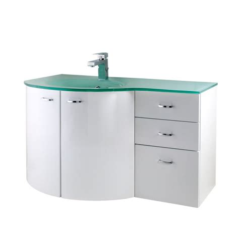Glass Basin Vanity Unit bandq aquabi vanity unit base unit and glass basin white h 575 x w 1050 x l 340mm review