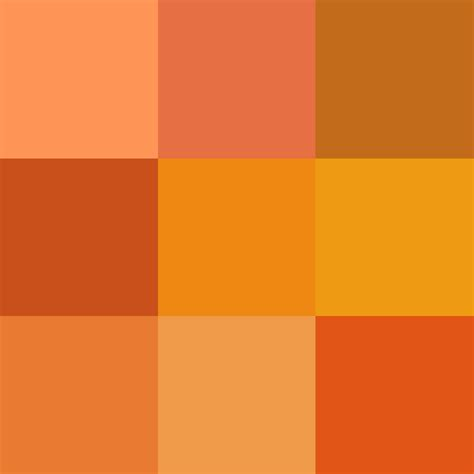 types of orange color file shades of orange png wikimedia commons