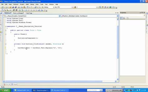 tutorial of asp net with c sharp c sharp tutorial 7 encryption youtube