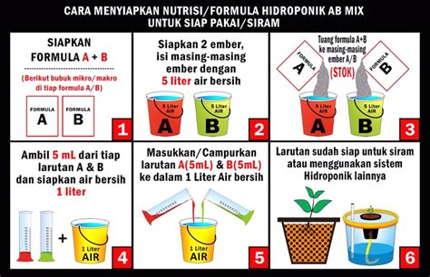 Cara Pembuatan Nutrisi Hidroponik Ab Mix cara membuat larutan nutrisi hidroponik