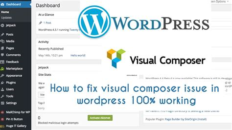 tutorial wordpress visual composer visual composer not working on wordpress how to fix